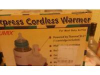 Cordless bottle warmer