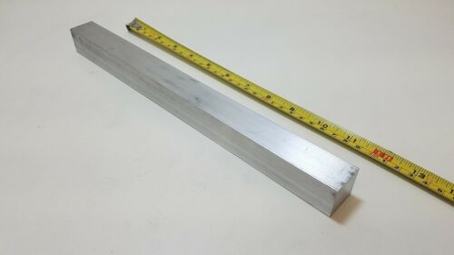 "6061 Aluminum Square Bar, 1"" Square x 12"" long, Solid Stock, T6511"
