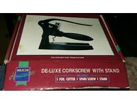 Deluxe corkscrew with stand