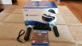Ps VR with camera, move controllers and 1 game