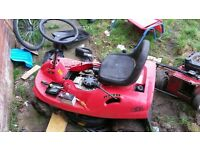 non running ride on mower
