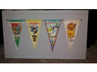 Retro upcycled 1 of a kind flags wall art