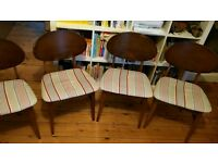 4 Beautility butterfly retro dining chairs.
