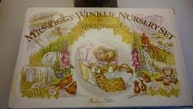 4 piece Mrs Tiggy-Winkle Nursery Set by Wedgewood