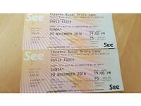 David Essex Tickets Drury Lane Stalls