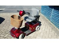 Red mobility shopper scooter. Excellent condition