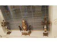 3 piece cherub clock set