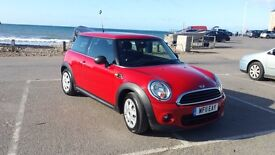 Completely up together Mini one Diesel chilly red Sun roof one lady owner full history 2011
