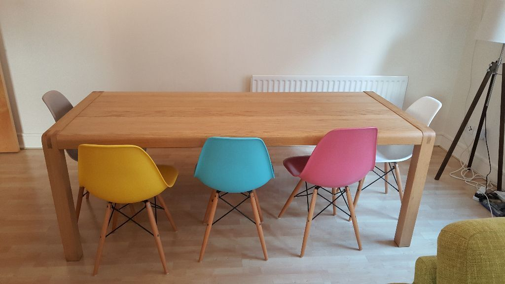 SOLD Habitat Radius 8 Seater Table With Bench Optional Chairs