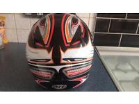 Motorcross helmet and goggles