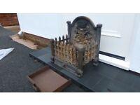 Fireplace iron dog grate
