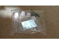 Set of 4 Plastic Handbag Size Bottles - Ideal for Hand Sanitiser and Suncream