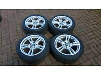 GENUINE BMW 18 INCH M SPORT ALLOY WHEELS 5X120 F30 F32 E90 3 4 SERIES E91 E92 VIVARO TRAFIC
