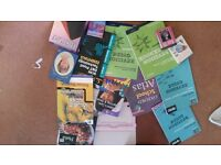 job lot of books plus 2 ipad covers and CD case