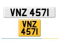 VNZ 4571 private Cherished personalised personal registration plate number