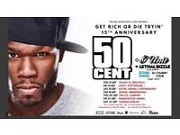 50 Cent Tickets Manchester 21/09