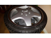 4 Original 17 inch Mercedes AMG Wheels With Nearly New 205/40 R17 Tyres.