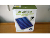 ***FREE DELIVERY*** Deluxe double airbed with pump - very good condition!!