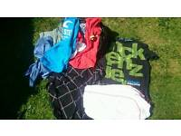 3 x Bags of mens and womens clothes s,m,l+