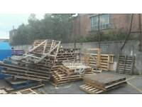 Unwanted wooden pallets