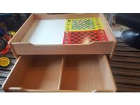 Kids toy box with wheel drawers great for toy storage.