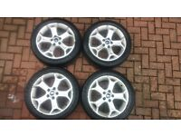 4x Ford 17 inch Alloys Wheels with tyres. Full set from MK4 Ford Mondeo.