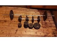 Cast Iron York BARBELL & DUMBBELL Set 65kg