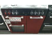 New graded Leisure 90cm dual fuel red range cooker with 12 months guarantee