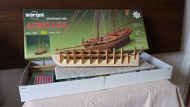 """Sergal 1815 Pilot Boat """"Achilles"""" wooden model kit"""