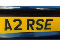 Cherished number plate - A2RSE for sale  Crediton, Devon