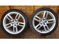 "2X AUDI A5 S-LINE 18"" ALLOYS 5X112 with MICHELLIN TYRES"