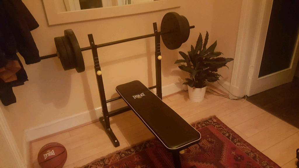 Weights and folding weight bench