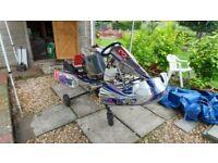 Championship winning Kosmic kart chassis for sale