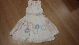 Beautiful white cotton dress with bolero cardigan age 7-8
