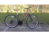 """MENS GENTS ADULTS APOLLO CX.10 700cc WHEEL 18"""" FRAME 18 SPEED BIKE BICYCLE"""