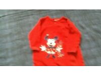 BABY CLOTHES 5 BABY VESTS 9 SLEEPSUITS PLUS 5 EXTRA OUTFITS
