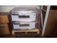 """COMMERCIAL DOUBLE DECK ELECTRIC PIZZA OVEN 8X13"""" EGS ELECTRIC PIZZA OVEN"""
