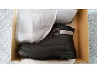 Steel Toe-Capped Work Boots, UK Size 10