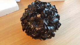 Brand New Polyresin Ball Black Decoration Piece