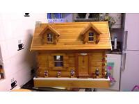 Log cabin 1/12th scale Dolls House