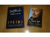 2 x genesis - chapter & verse / phil collins not dead yet - rare books