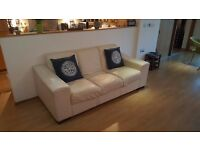 Leather Sofa, Arm Chair and Ottoman