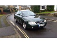 2000 AUDI A4 1.8T SPORT 4 DR SALOON GREEN 1 PREVIOUS OWNER FULL SERVICE HISTORY 10 MONTHS MOT 3 KEYS