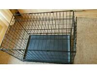 Medium metal dog crate/cage fold flat
