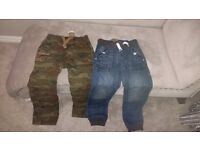 New Next Boys Trousers 10 years, jeans £9 and Military £7 still with tags!
