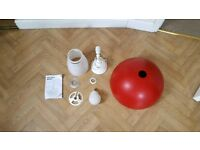 Ikea Brasa Red Lampshade, Fittings and Bulb VGC