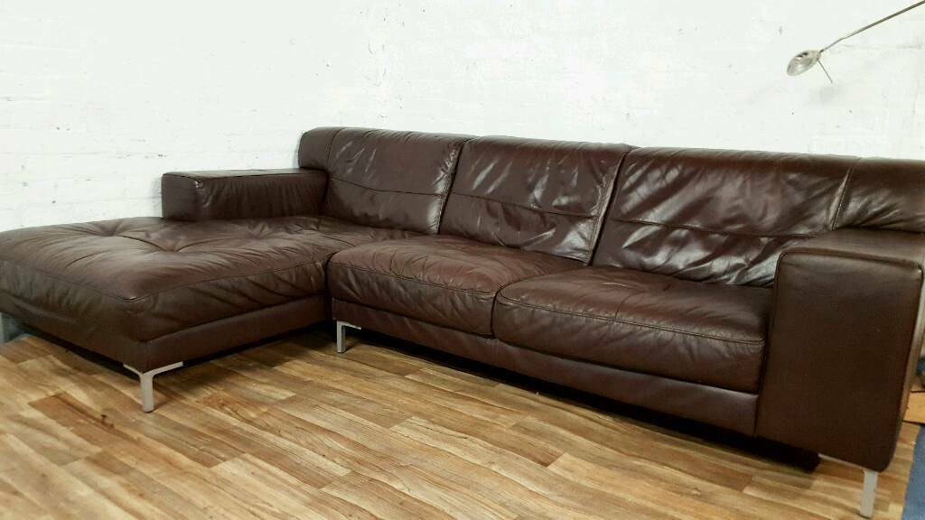 Real Leather Corner Sofa Free Delivery In Stoke On