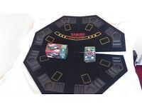 poker table top seats 8 players+chips+card shuffler.