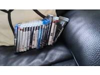 Assortion of playstation games and a few movies