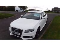 "Audi A4 2.0 TDi S-LINE(61 PLATE) 19""Rotar Alloys,Half Leather,F.S.H,Stunning Looking In Alpine White"
